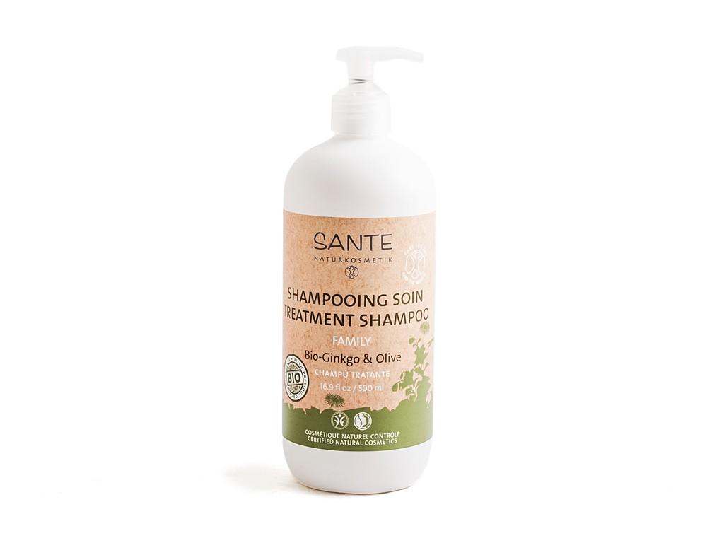 Bio Ginkgo & oliivi hooldav šampoon Sante, 500 ml