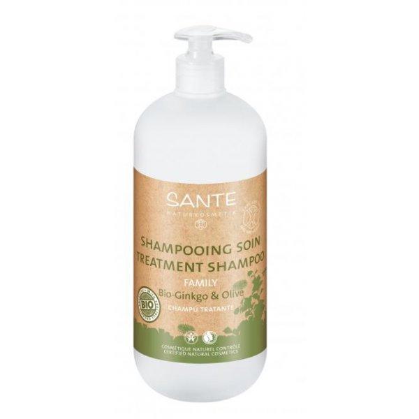 Bio Ginkgo & oliivi hooldav šampoon Sante, 950 ml