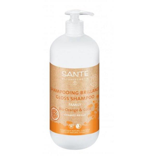 Bio apelsini ja kookose läike šampoon Sante, 950 ml