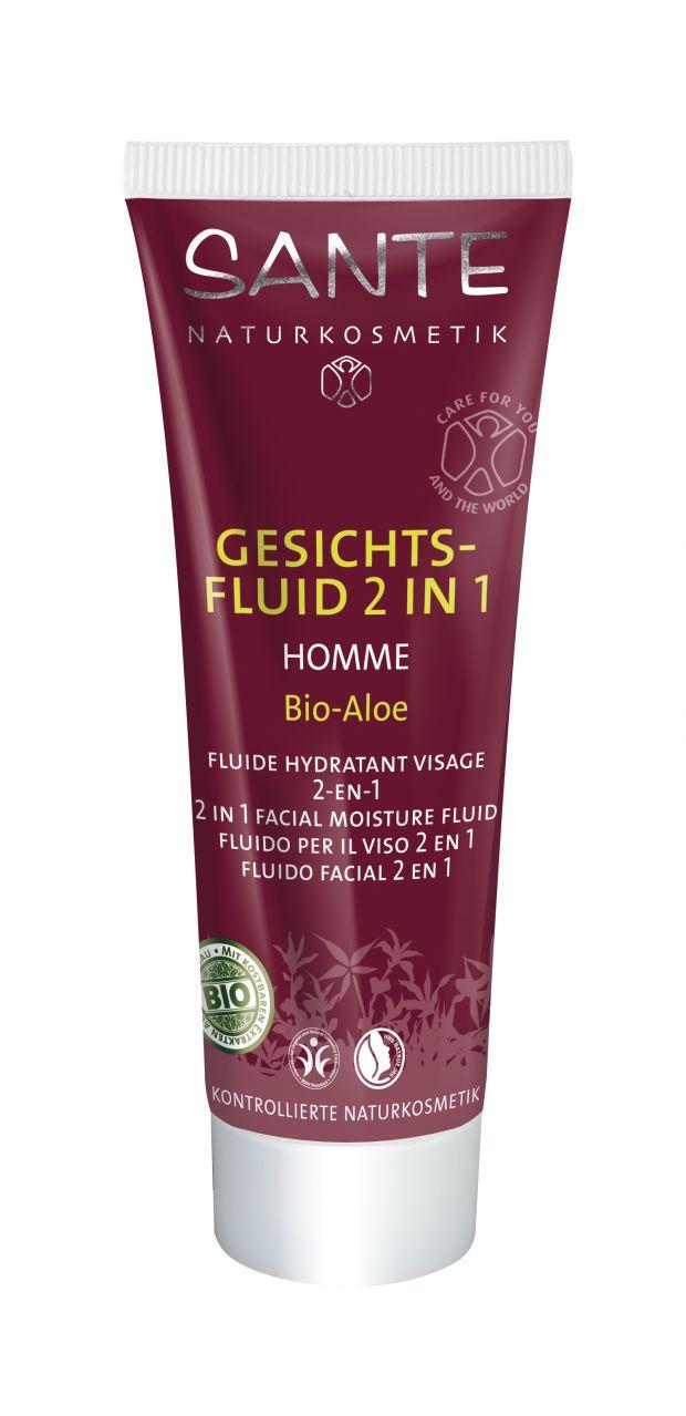 HOMME niisutav näofluid 2 in 1 Sante, 50 ml