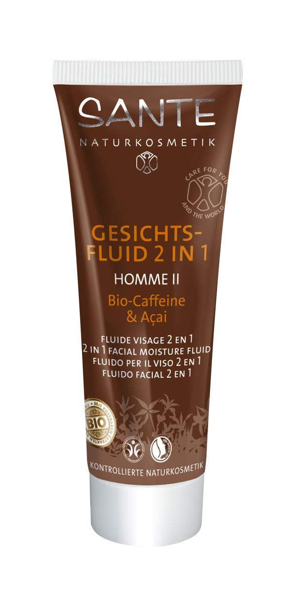 Homme II niisutav fluid/emulsioon näole 2 in 1 Sante, 50 ml