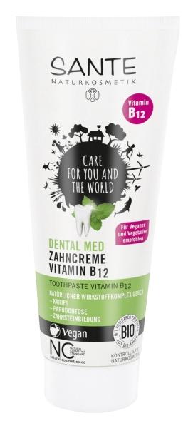Vitamiin B12-ga hambapasta Sante, 75 ml