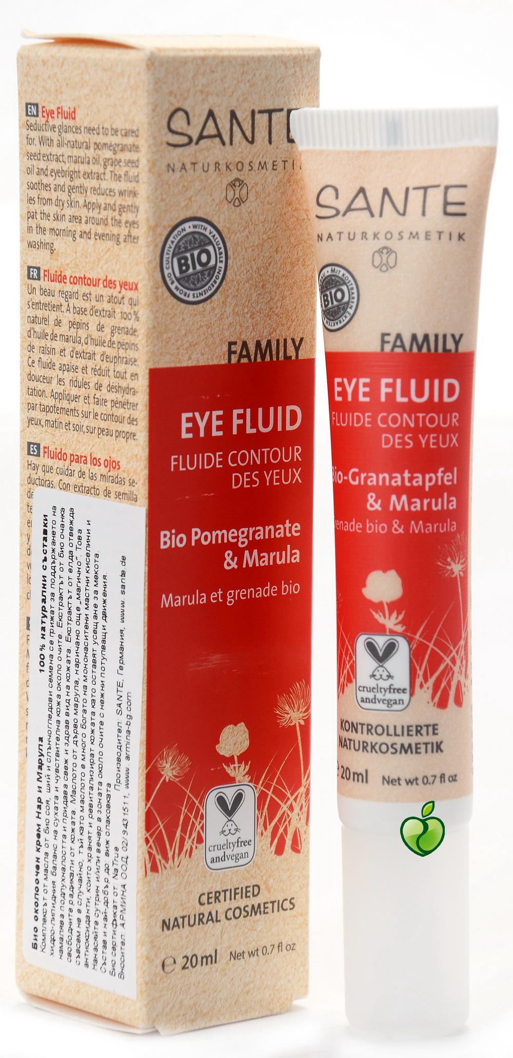 Marula ja granaatõuna silmakreem Sante, 20 ml