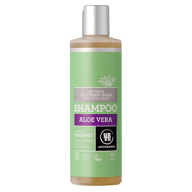 Aloe Vera šampoon kuivadele juustele Urtekram, 250 ml