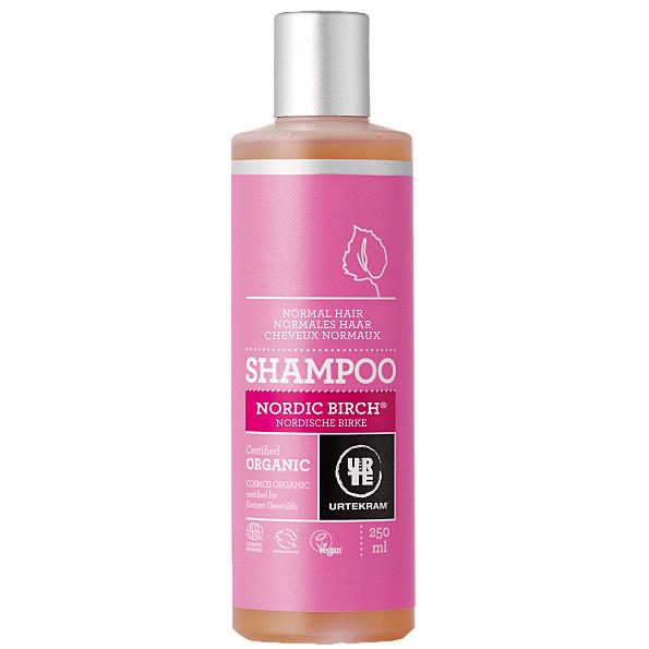 Põhjamaise kase šampoon normaalsetele juustele Urtekram, 245 ml
