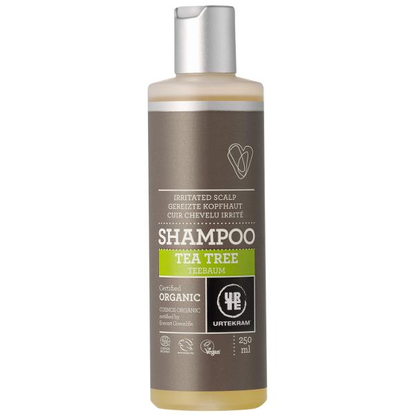 Antibakteriaalne teepuu šampoon Urtekram, 250 ml