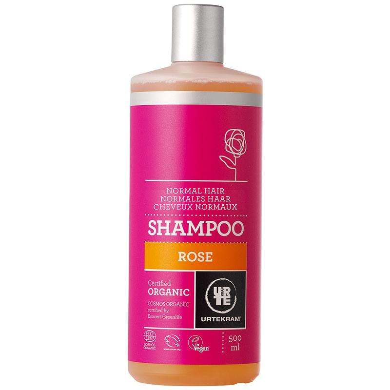Roosi šampoon normaalsetele juustele Urtekram, 500 ml
