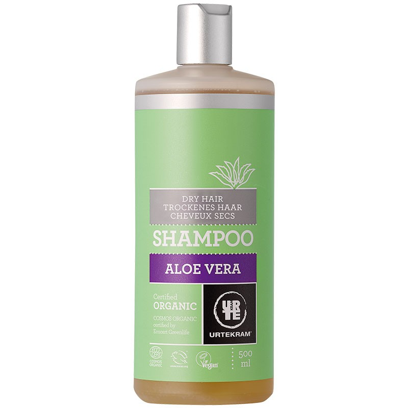 Aloe Vera šampoon kuivadele juustele Urtekram, 500 ml