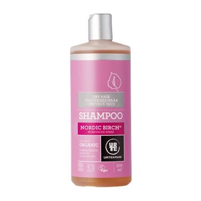 Põhjamaise kase šampoon kuivadele juustele Urtekram, 500 ml