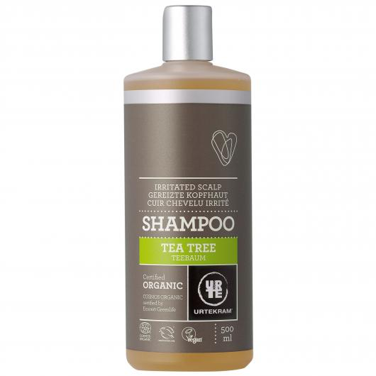 Antibakteriaalne teepuu šampoon Urtekram, 500 ml