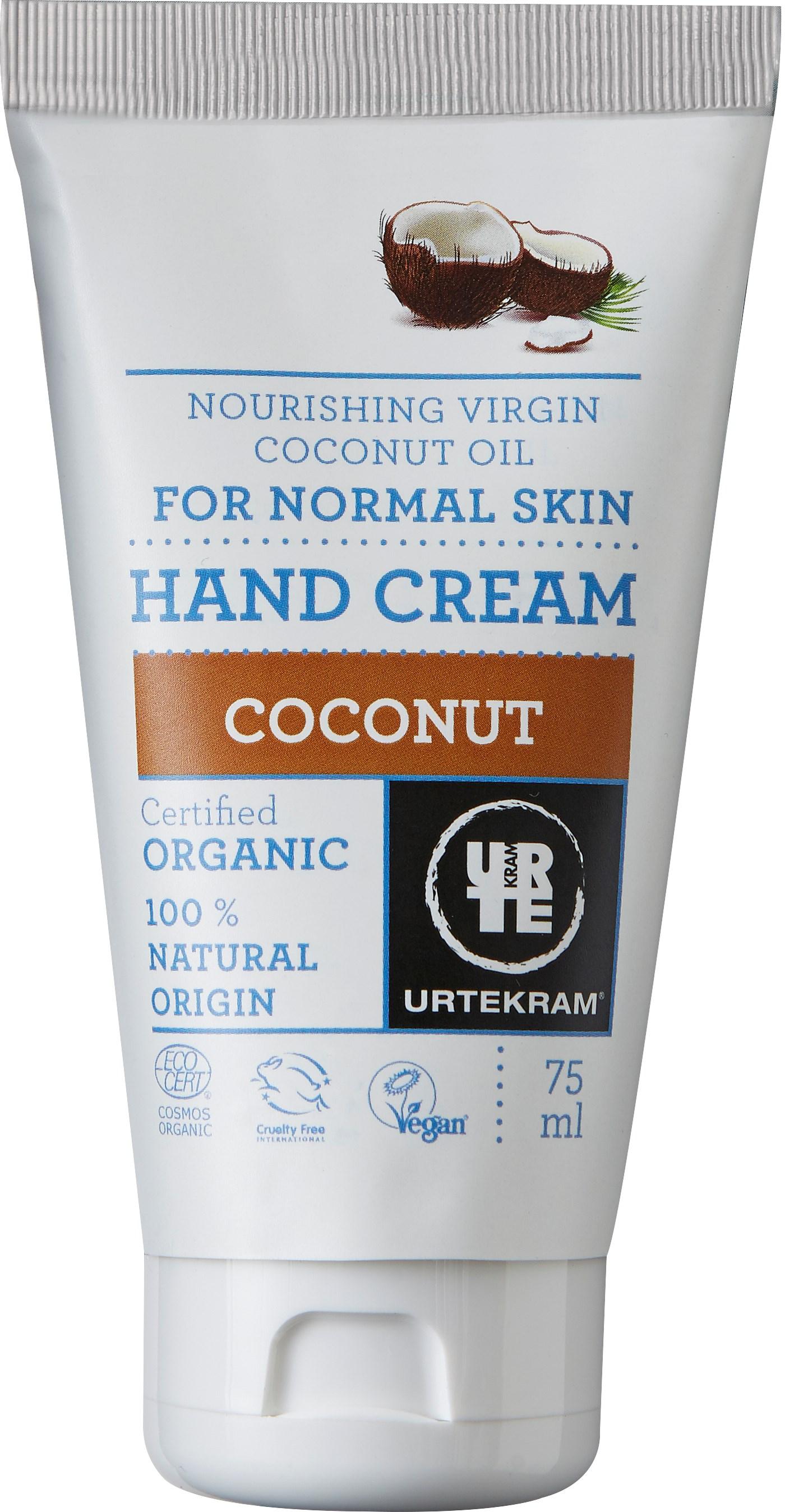 Kookose kätekreem Urtekram, 75 ml