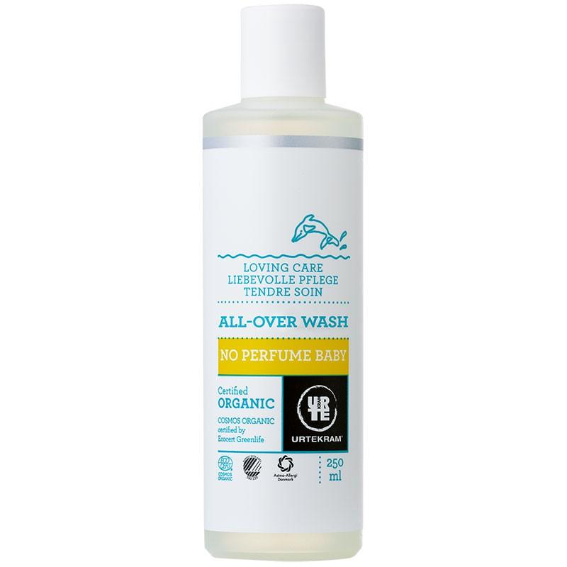Parfüümivaba kogukeha pesugeel beebidele Utrekram, 250 ml