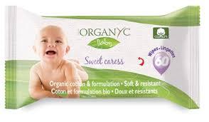 Niisked salvrätid beebidele Organyc, 60 tk