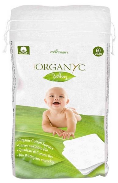 Puhastuspadjakesed beebidele Organyc, 60 tk