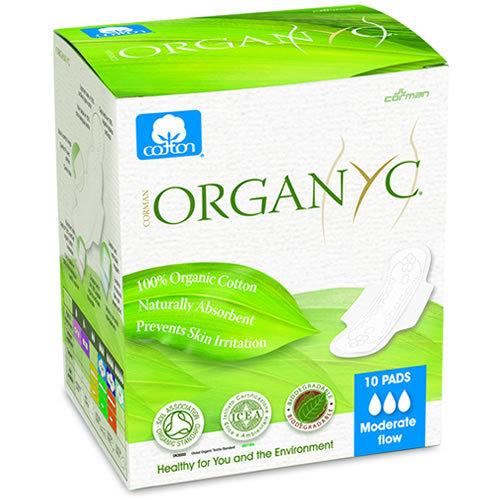 Hügieenisidemed päevaks Organyc, 10 tk
