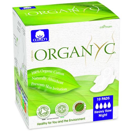 Hügieenisidemed ööseks Organyc, 10 tk