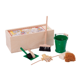 Mängu koristuskomplekt (roheline) Redecker, 1 tk