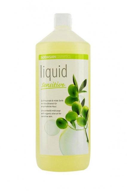 Vedelseep oliivi sensitiiv Sodasan, 1 l