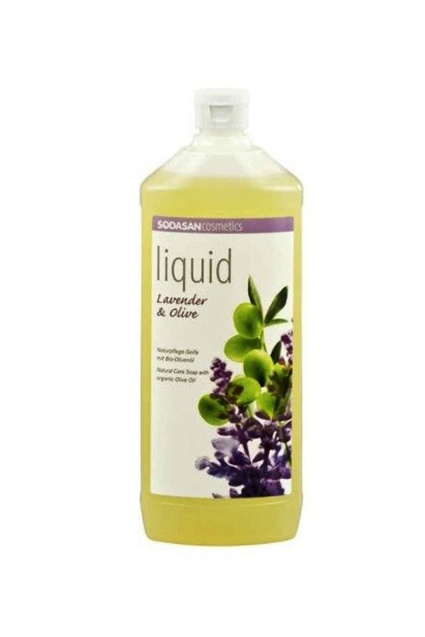 Lavendli-oliivi vedelseep Sodasan, 1 l