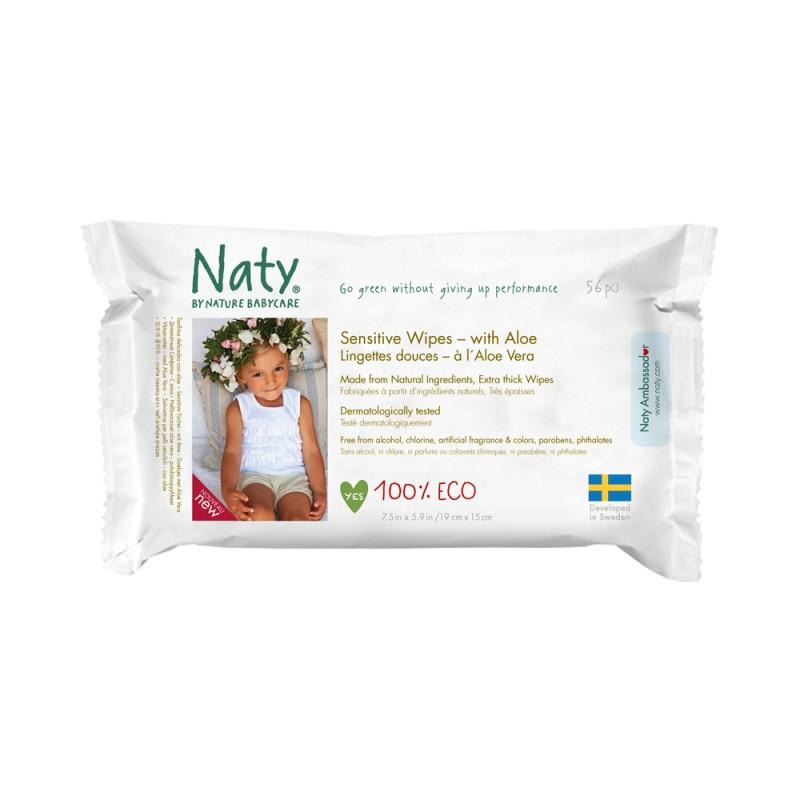 Beebisalvrätid aaloega Naty, 56 tk pakis