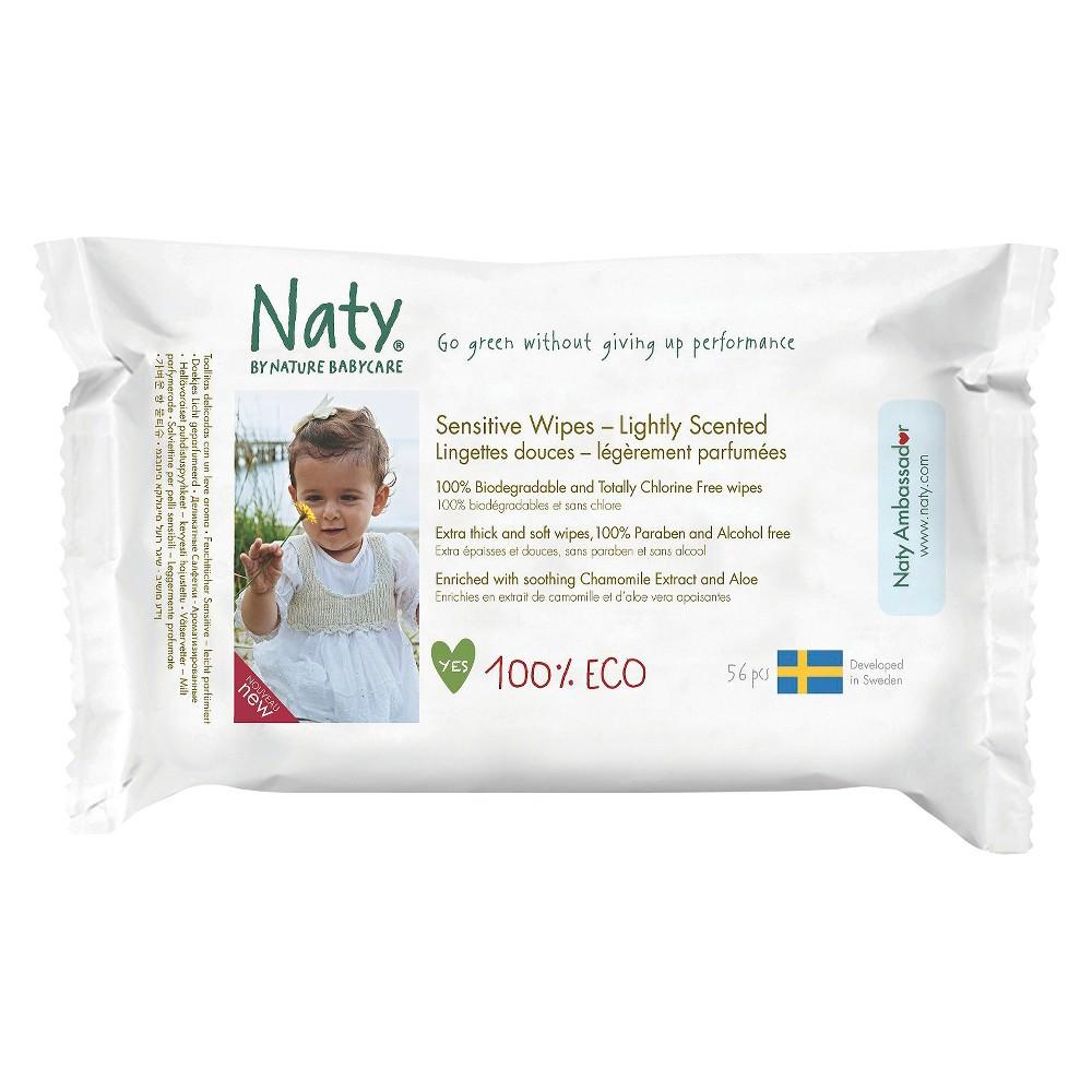 Beebisalvrätid lõhnavabad Naty, 56 tk